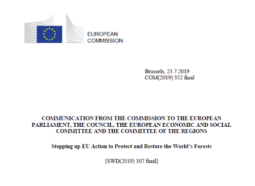Read more about the article Copernicus REDD+ Service Component officially mentioned by European Commission